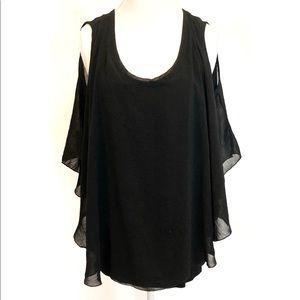 Kim & Cam black waterfall shirt